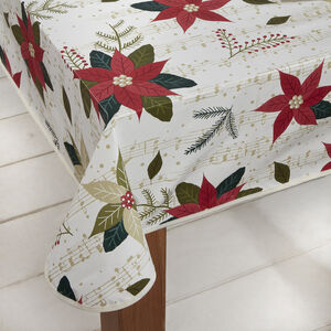 Poinsettia PVC Table Cloth