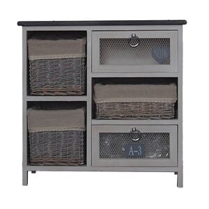 Wicker Heart Tall Store All Cabinet