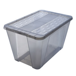 Ezy Snap Lock Storage Box 50L - Grey
