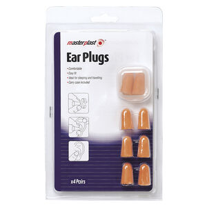 Ear Plugs With Holder 4 Pack
