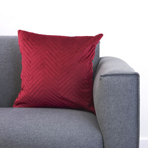 Triangle Stitch Cushion 45x45cm - Burgundy