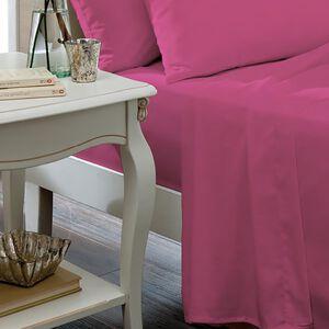 SINGLE FLAT SHEET Luxury Percale Hot Pink