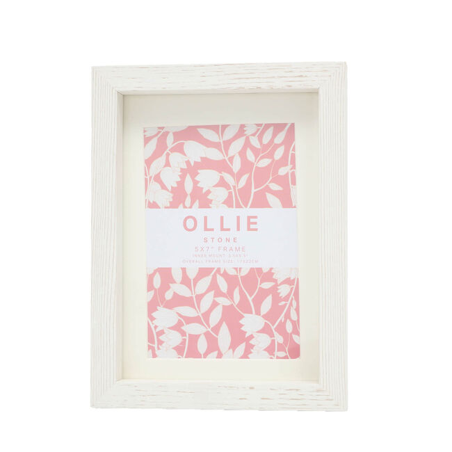 "Ollie Photo Frame 5x7"" - Stone"