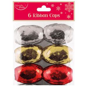 6 Pack Christmas Ribbon Bows