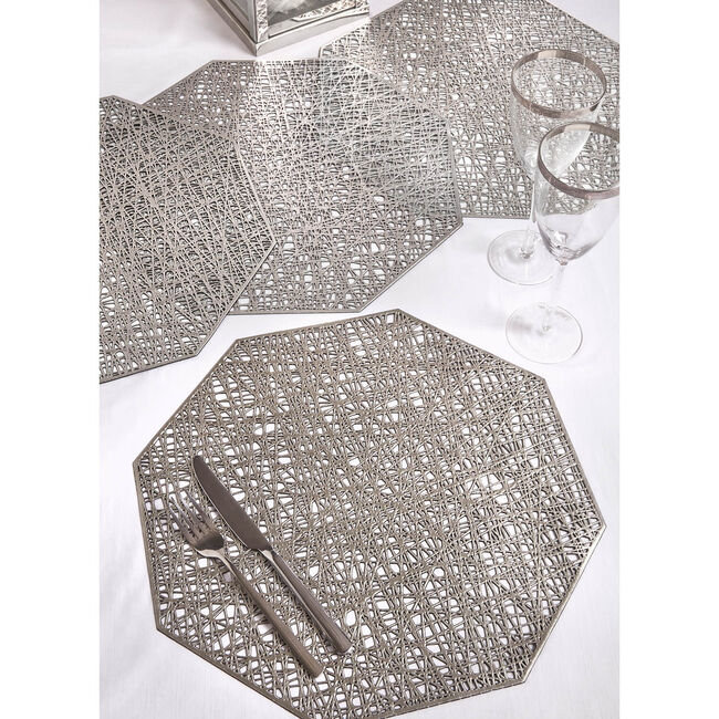 Hexagon Placemat - Silver