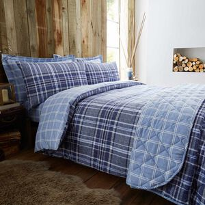 Brushed Cotton Hughes Check Duvet Cover