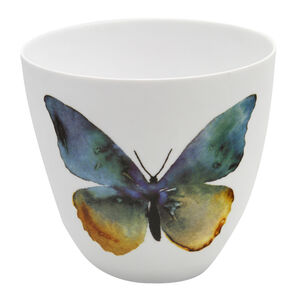 Blue & Yellow Butterfly Votive Holder