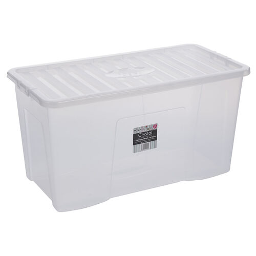Crystal Box & Lid 110L - Clear