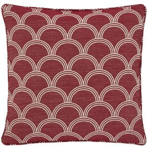 Geo Jacquard Berry 45x45 Cushion