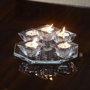 Cashel Living Crystal Waterfall 5 Tealight Holder