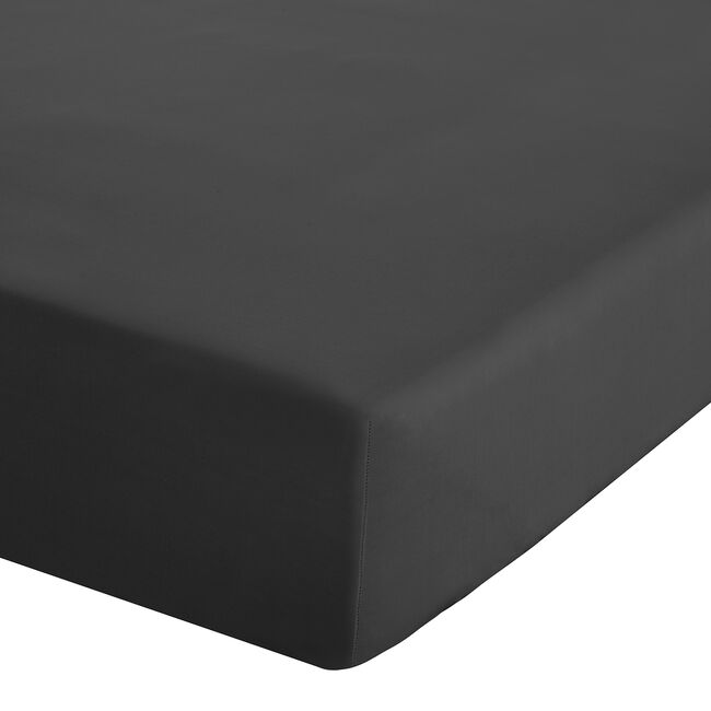 SINGLE FITTED SHEET Luxury Percale Black