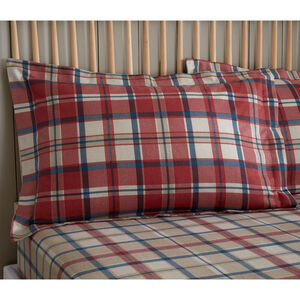 Brushed Cotton Fogarty Check Pillowcase Pair