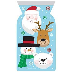 Christmas Character Zip Cello Bags - 12 Pack