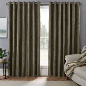 BLACKOUT & THERMAL HERRINGBONE GREEN 66x72 Curtain