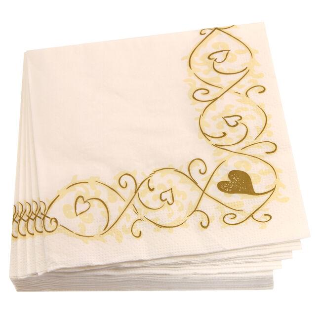 Hearts Swirl Napkins 20 Pack