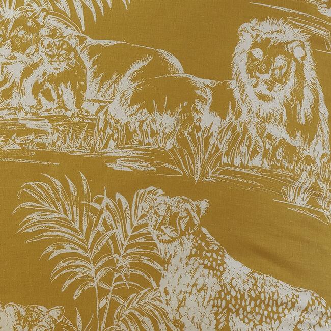 Sketch Safari Oxford Pillowcase Pair - White/Ochre