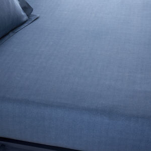 ARMADILLO SCALE NAVY King Fitted Sheet
