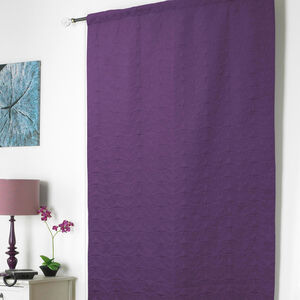 Embossed Thermal Plum Door Curtain