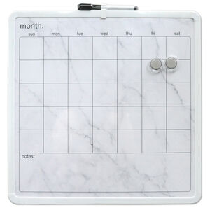 Month Marble Organiser Magnetic Whiteboard