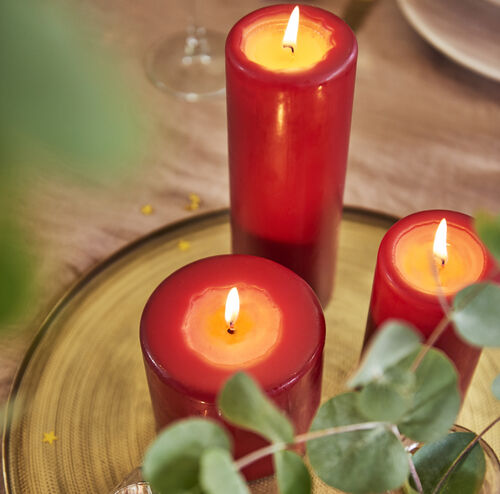 Bolsius Red Pillar Candle 20 x 10cm