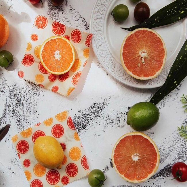 Tala 2 Citrus Food Wax Wraps 16 x 16cm