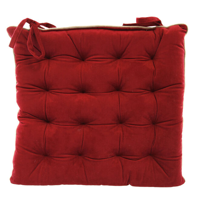 Naomi Kitchen Seat Pad - Red