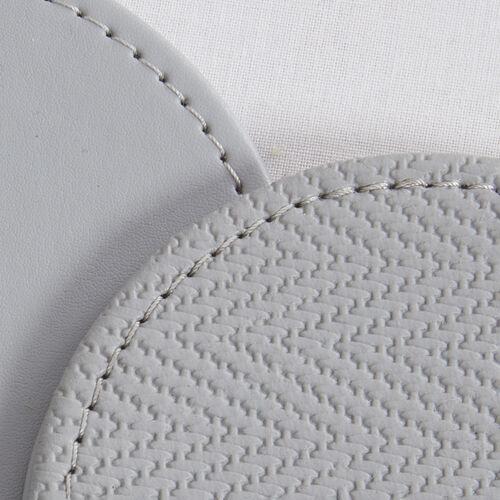 Reversible Round Herringbone Coasters Grey 4 Pk