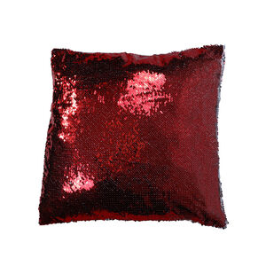 Sequin Cushion Cover 2 Pack 45x45cm - Red