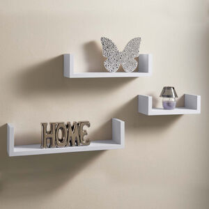 Capri Floating Wall Shelves 3 Set White