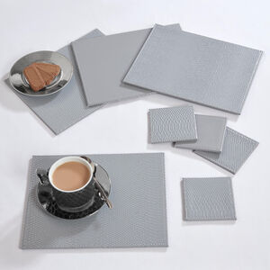 Reversible Croc Placemats - Grey