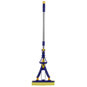 Gleam Clean Sponge Mop & Telescopic Handle