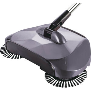 360 Degree Swivel Floor Sweeper Glossy Grey