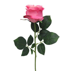 Mountain Rose Stem with Foilage Two-tone Pink 57cm