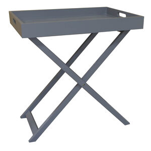 Butlers Large Table Tray - Dark Grey