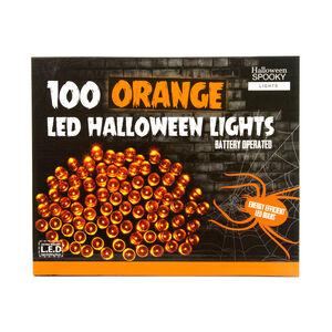Halloween 100 LED Orange String Lights