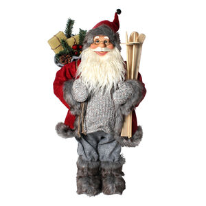 Skiing Santa with Gift Bag 60cm