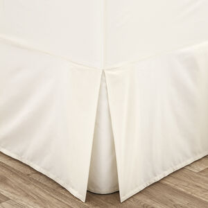 DOUBLE VALANCE SHEET Luxury Percale Cream