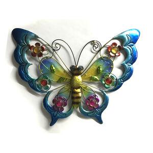 Large Glass Butterfly Garden Wall Art