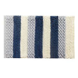 Supersoft Plait Chenille Blue Mat