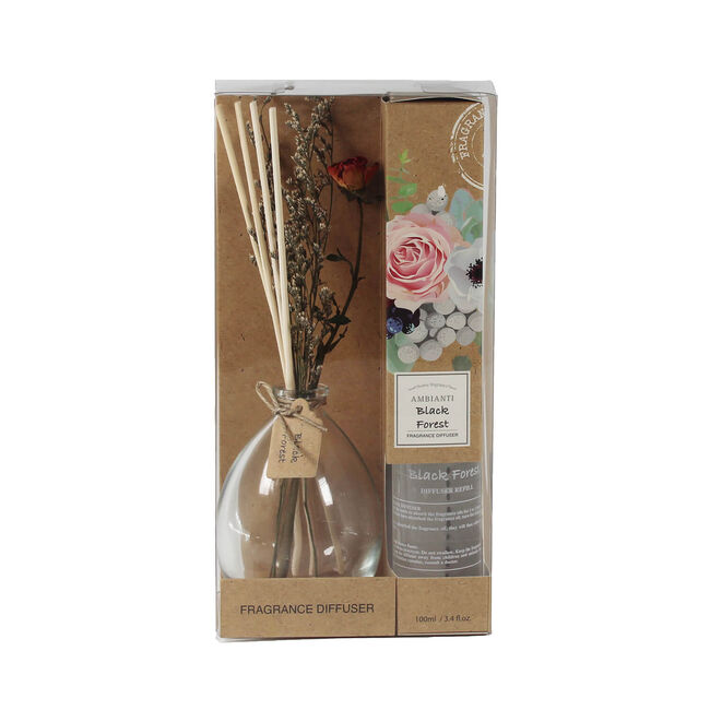 Ambianti Black Forest Flower Reed Diffuser 100ml