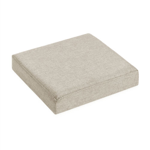 Deluxe Linen Folding Ottoman - Oatmeal