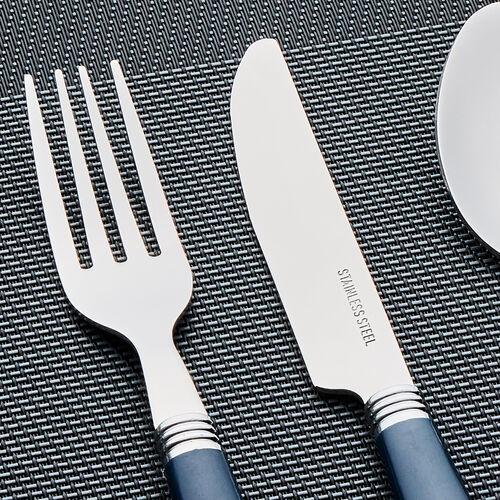 Master Cutler Fete Cutlery Set 16 Piece - Navy