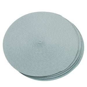Round Woven Placemat - Duck Egg