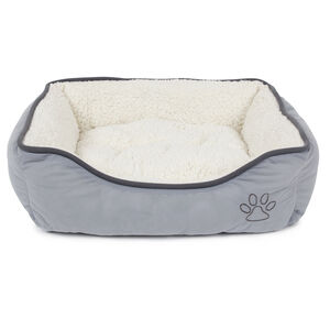 Grey Fleece Pet Bed Medium