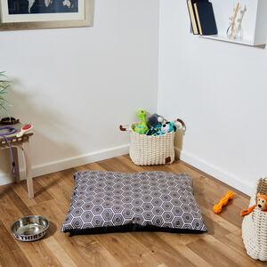 Printed Plush Large Pet Cushion
