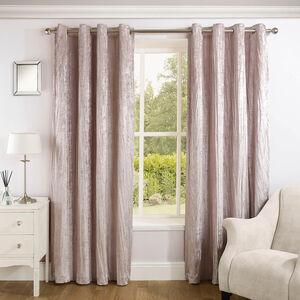 CRINKLE BLUSH 66x54 Curtain