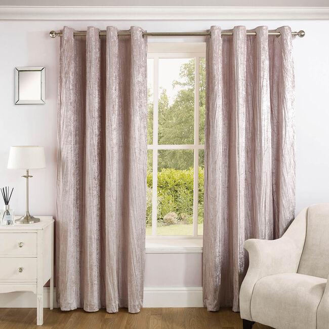 CRINKLE BLUSH 66x72 Curtain