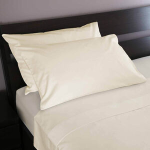 200 Threadcount Cotton Cream Pillowcases