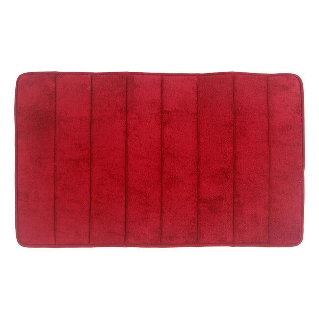Memory Foam Bath Mat Red 50cm x 80cm