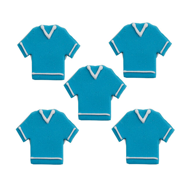 Football Shirt Cake Toppers - Blue